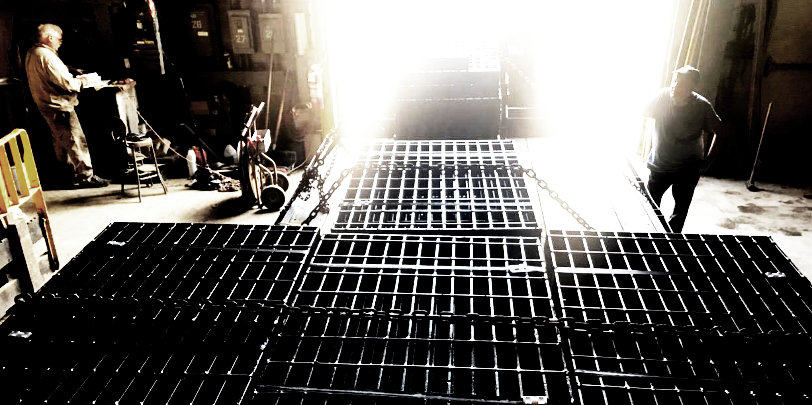 Photo of grating shipment in production facility